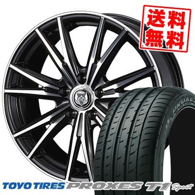 215/55R16 97Y TOYO TIRES トーヨー タイヤ PROXES T1 sport プロクセス T1スポーツ WEDS RIZLEY DK ウェッズ ライツレーDK サマータイヤホイール4本セット
