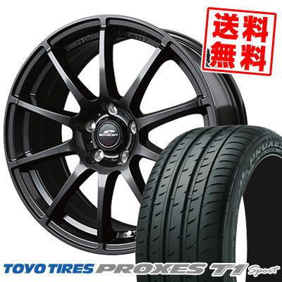 225/55R16 99Y TOYO TIRES トーヨー タイヤ PROXES T1 Sport プロクセス T1スポーツ SCHNEDER StaG シュナイダー スタッグ サマータイヤホイール4本セット【取付対象】