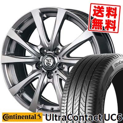 205/55R16 CONTINENTAL コンチネンタル UltraContact UC6 ウルトラコンタクト UC6 TRG-BAHN TRG バーン サマータイヤホイール4本セット