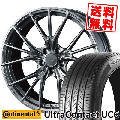 245/50R18 100Y CONTINENTAL コンチネンタル UltraContact UC6 ウルトラ コンタクト UC6 WEDS F ZERO FZ-1 ウェッズ エフゼロ FZ-1 サマータイヤホイール4本セット