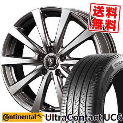 225/55R17 CONTINENTAL コンチネンタル UltraContact UC6 ウルトラコンタクト UC6 Euro Speed G10 ユーロスピード G10 サマータイヤホイール4本セット
