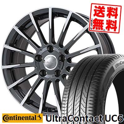 【メーカー直送】 245/50R18 CONTINENTAL コンチネンタル UltraContact UC6 ウルトラコンタクト UC6 Leyseen F-XV レイシーン FX-V サマータイヤホイール4本セット, B&BLife d4b69265