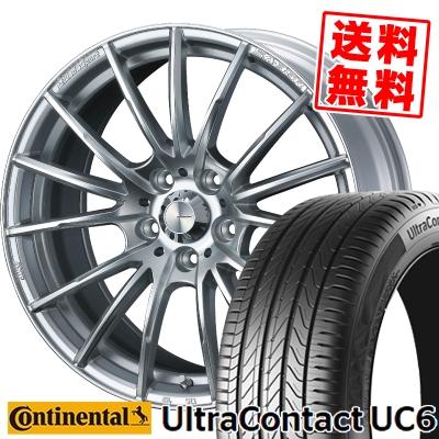 245/45R17 95W CONTINENTAL コンチネンタル UltraContact UC6 ウルトラ コンタクト UC6 WedsSport SA-35R ウェッズスポーツ SA-35R サマータイヤホイール4本セット