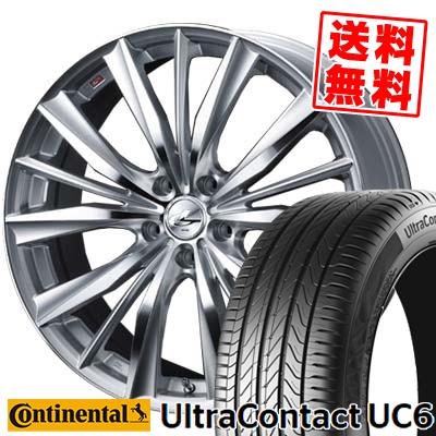 205/55R16 CONTINENTAL コンチネンタル UltraContact UC6 ウルトラコンタクト UC6 weds LEONIS VX ウエッズ レオニス VX サマータイヤホイール4本セット