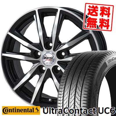 205/55R16 CONTINENTAL コンチネンタル UltraContact UC6 ウルトラコンタクト UC6 JP STYLE WOLX JPスタイル ヴォルクス サマータイヤホイール4本セット