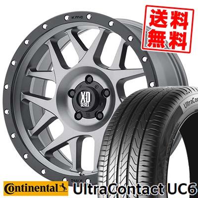 205/55R16 CONTINENTAL コンチネンタル UltraContact UC6 ウルトラコンタクト UC6 KMC XD127 BULLY KMC XD127 ブリー サマータイヤホイール4本セット