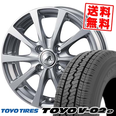 145R12 6PR TOYO TIRES トーヨー タイヤ V02e ブイゼロツーイー AZ SPORTS EX10 AZスポーツ EX10 サマータイヤホイール4本セット