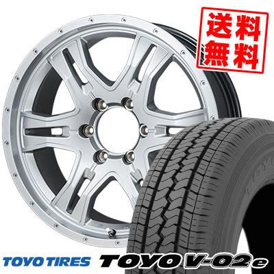 195/80R15 107/105L TOYO TIRES トーヨー タイヤ V02e ブイゼロツーイー KAZERA HYPER3 カゼラ ハイパー3 サマータイヤホイール4本セット for 200系ハイエース