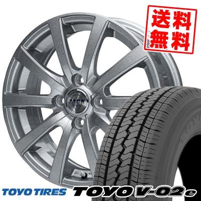 145/80R12 80/78N TOYO TIRES トーヨータイヤ V02e ブイゼロツーイー ZACK JP-110 ザック JP110 サマータイヤホイール4本セット
