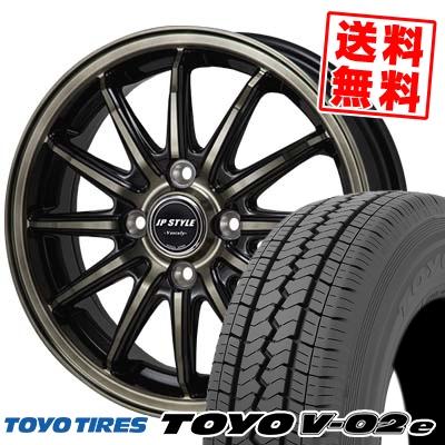 155R12 8PR TOYO TIRES トーヨー タイヤ V02e ブイゼロツーイー JP STYLE Vercely JPスタイル バークレー サマータイヤホイール4本セット