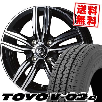 145R12 8PR TOYO TIRES トーヨー タイヤ V02e ブイゼロツーイー WEDS RIZLEY DS ウェッズ ライツレー DS サマータイヤホイール4本セット