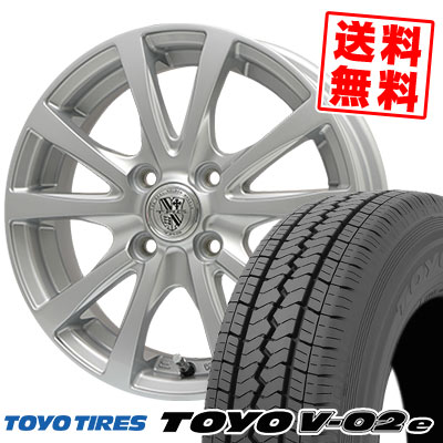 165/80R14 91/90N TOYO TIRES トーヨー タイヤ V02e ブイゼロツーイー TRG-SILBAHN TRG シルバーン サマータイヤホイール4本セット