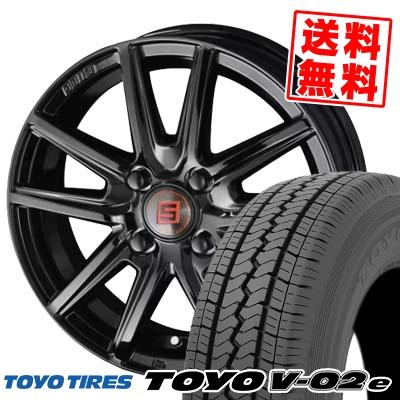 145/80R12 86/84N TOYO TIRES トーヨー タイヤ V02e ブイゼロツーイー SEIN SS BLACK EDITION ザイン エスエス ブラックエディション サマータイヤホイール4本セット