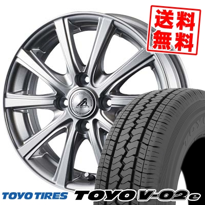 145/80R12 TOYO TIRES トーヨー タイヤ V02e ブイゼロツーイー AZ sports YL-10 AZスポーツ YL-10 サマータイヤホイール4本セット