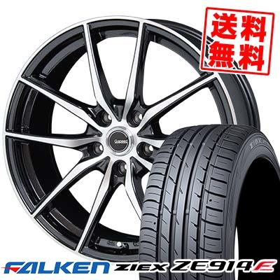 245/45R18 FALKEN ファルケン ZIEX ZE914F ジークス ZE914F G.Speed P-02 Gスピード P-02 サマータイヤホイール4本セット