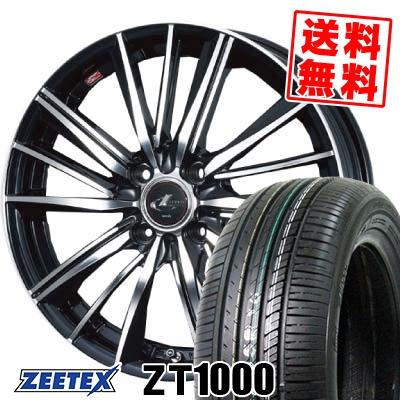 195/55R15 85V ZEETEX ジーテックス ZT1000 ZT1000 weds LEONIS FY ウェッズ レオニス FY サマータイヤホイール4本セット