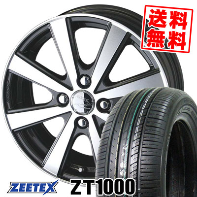 195/55R15 85V ZEETEX ジーテックス ZT1000 ZT1000 SMACK VIR スマック VI-R サマータイヤホイール4本セット