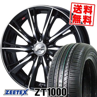 195/55R15 85V ZEETEX ジーテックス ZT1000 ZT1000 weds LEONIS WX ウエッズ レオニス WX サマータイヤホイール4本セット