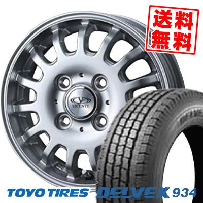 145/80R12 TOYO TIRES トーヨータイヤ DELVEX 934 デルベックス 934 VICENTE-04CA ヴィセンテ04 CA スタッドレスタイヤホイール4本セット