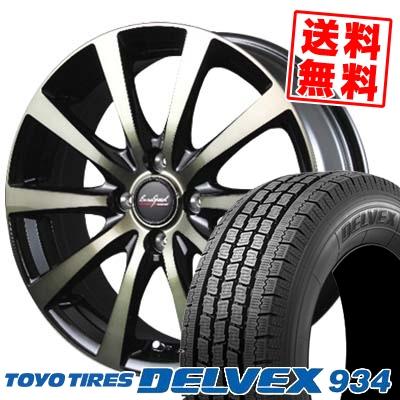 155/80R12 TOYO TIRES トーヨータイヤ DELVEX 934 デルベックス 934 EuroSpeed BL10 ユーロスピード BL10 スタッドレスタイヤホイール4本セット