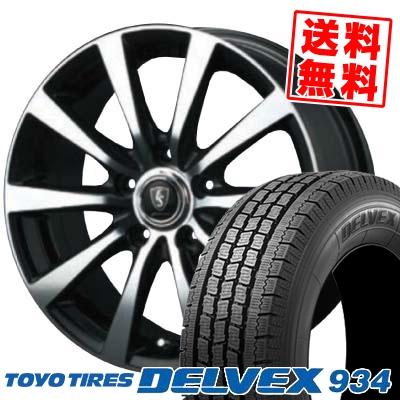195/70R15 TOYO TIRES トーヨータイヤ DELVEX 934 デルベックス 934 EuroSpeed BL10 ユーロスピード BL10 スタッドレスタイヤホイール4本セット