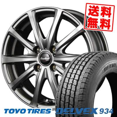 145/80R12 TOYO TIRES トーヨータイヤ DELVEX 934 デルベックス 934 EuroSpeed V25 ユーロスピード V25 スタッドレスタイヤホイール4本セット