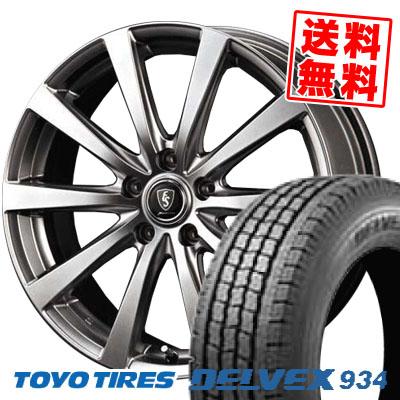 195/70R15 TOYO TIRES トーヨータイヤ DELVEX 934 デルベックス 934 Euro Speed G10 ユーロスピード G10 スタッドレスタイヤホイール4本セット