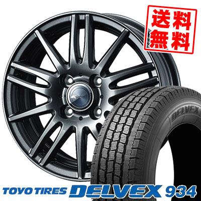 145/80R12 86/84N TOYO TIRES トーヨータイヤ DELVEX 934 デルベックス 934 Zamik Tito ザミック ティート スタッドレスタイヤホイール4本セット