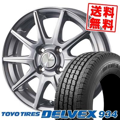 145/80R12 86/84N TOYO TIRES トーヨータイヤ DELVEX 934 デルベックス 934 V-EMOTION SR10 Vエモーション SR10 スタッドレスタイヤホイール4本セット
