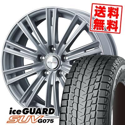 205/70R15 96Q YOKOHAMA ヨコハマ G075 G075 WEDS JOKER ICE ウェッズ ジョーカー アイス スタッドレスタイヤホイール4本セット