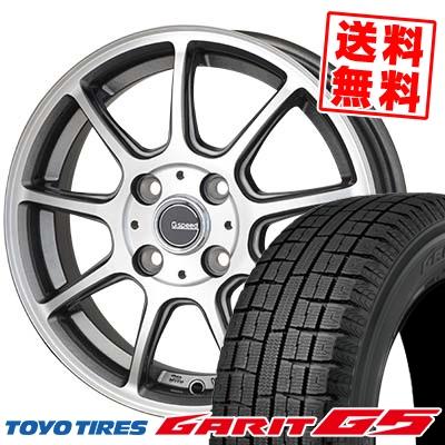 175/65R14 TOYO TIRES トーヨータイヤ GARIT G5 ガリット G5 G.Speed P-01 Gスピード P-01 スタッドレスタイヤホイール4本セット