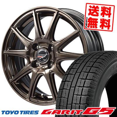 185/60R15 84Q TOYO TIRES トーヨータイヤ GARIT G5 ガリット G5 FINALSPEED GR-Volt ファイナルスピード GRボルト スタッドレスタイヤホイール4本セット