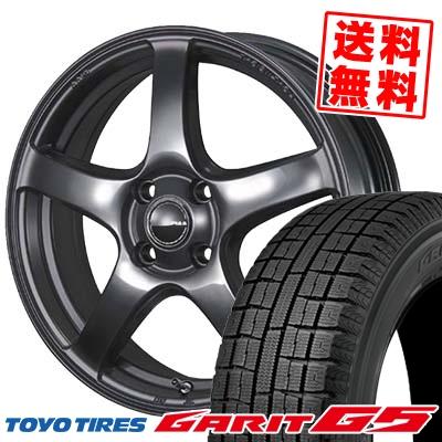 185/60R15 TOYO TIRES トーヨータイヤ GARIT G5 ガリット G5 PIAA Eleganza S-01 PIAA エレガンツァ S-01 スタッドレスタイヤホイール4本セット