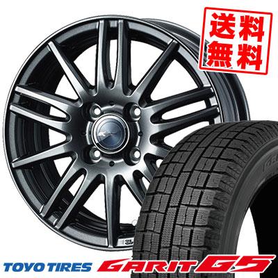 155/65R14 75Q TOYO TIRES トーヨータイヤ GARIT G5 ガリット G5 Zamik Tito ザミック ティート スタッドレスタイヤホイール4本セット
