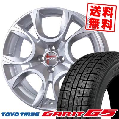 185/65R15 88Q TOYO トーヨー GARIT G5 ガリット G5 MAK TORINO MAK トリノ スタッドレスタイヤホイール4本セット