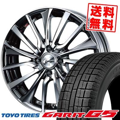 165/65R14 TOYO TIRES トーヨータイヤ GARIT G5 ガリット G5 weds LEONIS VT ウエッズ レオニス VT スタッドレスタイヤホイール4本セット