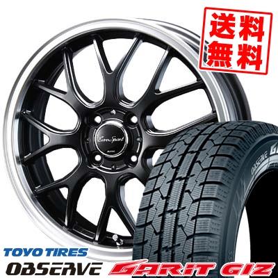155/65R14 TOYO TIRES トーヨータイヤ OBSERVE GARIT GIZ オブザーブ ガリット ギズ Eoro Sport Type 805 ユーロスポーツ タイプ805 スタッドレスタイヤホイール4本セット
