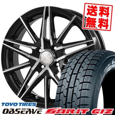 165/65R14 TOYO TIRES トーヨータイヤ OBSERVE GARIT GIZ オブザーブ ガリット ギズ BLONKS TB01 ブロンクス TB01 スタッドレスタイヤホイール4本セット