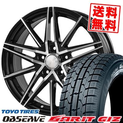 205/60R16 TOYO TIRES トーヨータイヤ OBSERVE GARIT GIZ オブザーブ ガリット ギズ BLONKS TB01 ブロンクス TB01 スタッドレスタイヤホイール4本セット