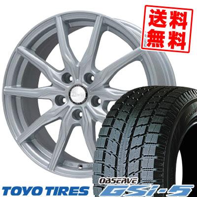 235/70R16 TOYO TIRES トーヨータイヤ OBSERVE GSi-5 オブザーブ GSi5 B-WIN KRX B-WIN KRX スタッドレスタイヤホイール4本セット