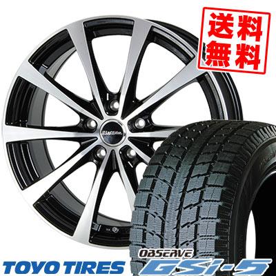 225/80R15 TOYO TIRES トーヨー タイヤ OBSERVE GSi-5 オブザーブ GSi5 Laffite LE-03 ラフィット LE-03 スタッドレスタイヤホイール4本セット