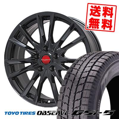 235/70R16 TOYO TIRES トーヨータイヤ OBSERVE GSi-5 オブザーブ GSi5 LeyBahn GBX レイバーン GBX スタッドレスタイヤホイール4本セット