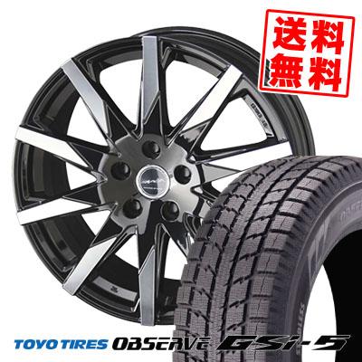 225/80R15 TOYO TIRES トーヨー タイヤ OBSERVE GSi-5 オブザーブ GSi5 SMACK SFIDA スマック スフィーダ スタッドレスタイヤホイール4本セット
