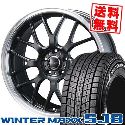 225/55R18 DUNLOP ダンロップ WINTER MAXX SJ8 ウインターマックス SJ8 Eoro Sport Type 805 ユーロスポーツ タイプ805 スタッドレスタイヤホイール4本セット