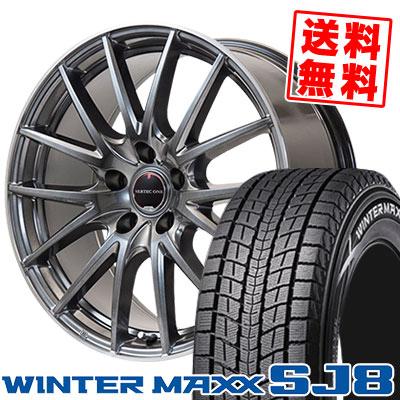 215/70R16 100Q DUNLOP ダンロップ WINTER MAXX SJ8 ウインターマックス SJ8 VERTEC ONE Eins.1 ヴァーテック ワン アインス ワン スタッドレスタイヤホイール4本セット