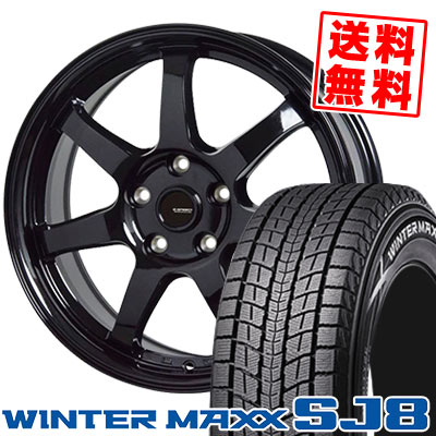 225/60R18 100Q DUNLOP ダンロップ WINTER MAXX SJ8 ウインターマックス SJ8 G.speed G-03 Gスピード G-03 スタッドレスタイヤホイール4本セット