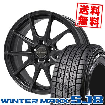 215/70R16 DUNLOP ダンロップ WINTER MAXX SJ8 ウインターマックス SJ8 LeyBahn WGS レイバーン WGS スタッドレスタイヤホイール4本セット
