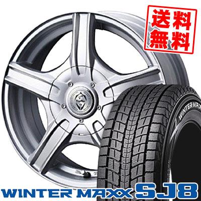 225/70R16 DUNLOP ダンロップ WINTER MAXX SJ8 ウインターマックス SJ8 Treffer MH トレファーMH スタッドレスタイヤホイール4本セット