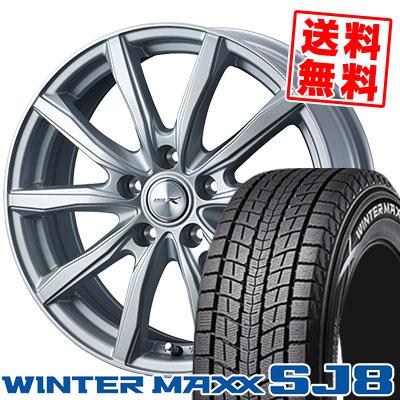 225/55R18 98Q DUNLOP ダンロップ WINTER MAXX SJ8 ウインターマックス SJ8 JOKER SHAKE ジョーカー シェイク スタッドレスタイヤホイール4本セット