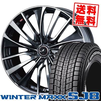 225/70R16 DUNLOP ダンロップ WINTER MAXX SJ8 ウインターマックス SJ8 weds LEONIS VT ウエッズ レオニス VT スタッドレスタイヤホイール4本セット